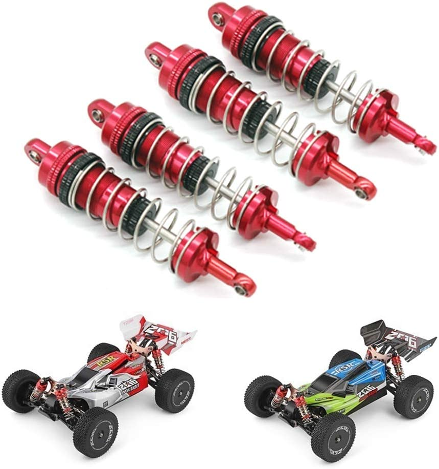 SNOWINSPRING 4Pcs Metal Shock Absorber Damper Replacement Accessory for WLtoys 144001 1//14 RC Drift Racing Car Upgrade Parts,Red
