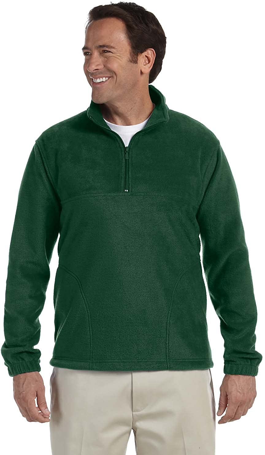 Quarter-Zip Fleece Pullover - BLACK - S 8 oz. Quarter-Zip Fleece ...