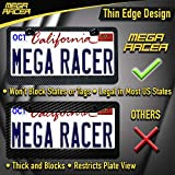 Mega Racer Front OR Rear License Plate Frames