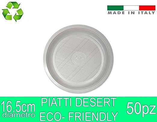 Palucart 20 Platillos Postre biodegradables Blancos en PLA Fibra ...