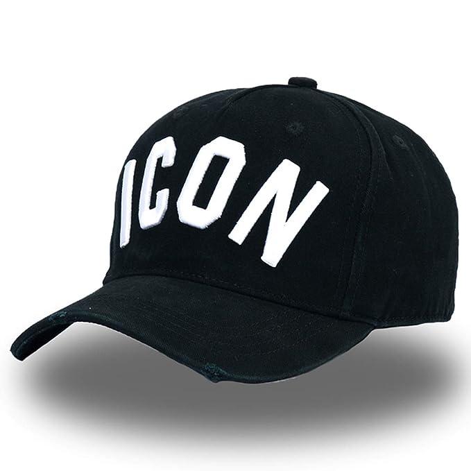 e9837e4be Amazon.com: CoolBao Dsq Hats Letters Icon Casquette Dad Hip Hop ...