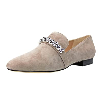 Karl Lagerfeld Paris Liv Embellished Loafer, Taupe   Loafers & Slip-Ons