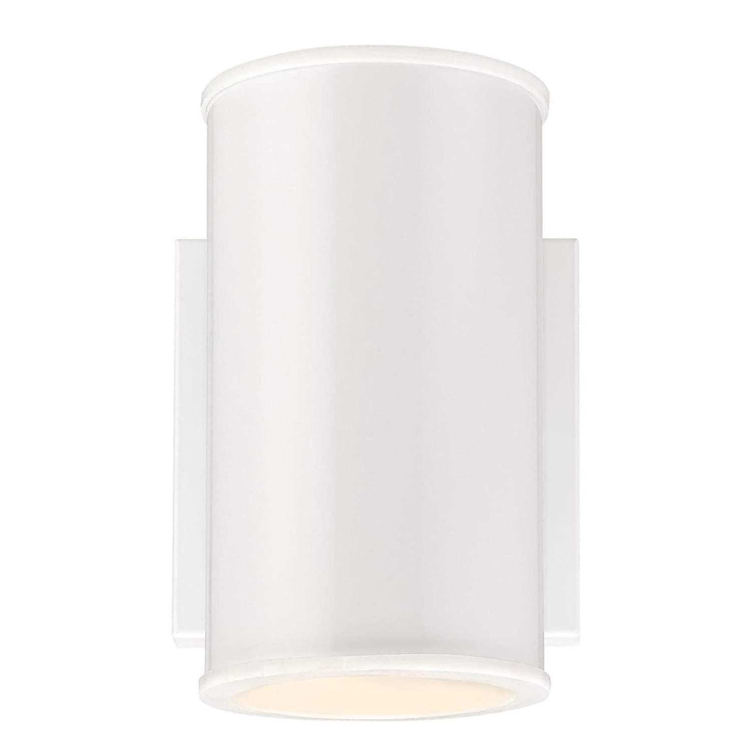 Westinghouse 6361300 Mayslick One-Light LED White Finish with Frosted Glass Lens Outdoor Wall Fixture Westinghouse Lighting