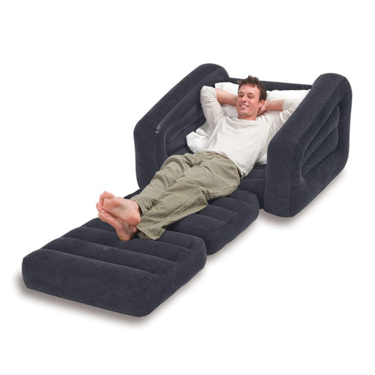 DFB Luxus Einzel-Aufblasbare Sofa Lazy Sofa Bett Aufblasbare Bett Aufblasbare Klappstuhl Strand Freizeit Reise Home Abenteuer
