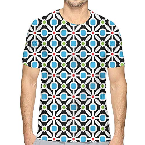Comfort Colors t Shirt Floral,Abstract Geometric Squares t Shirt S ()