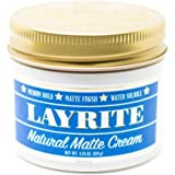 Layrite Natural Matte Cream Pomade, 4.25 Oz
