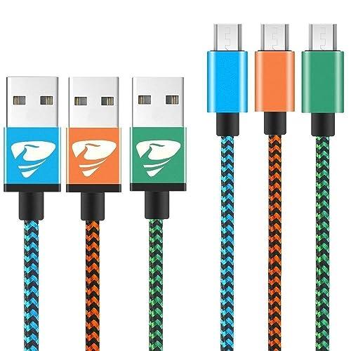 Rephoenix câble Lightning 1m/1M [3-pack (Bleu, Orange, Vert)] USB de synchronisation et de chargement Lightning vers câble USB pour iPhone téléphones