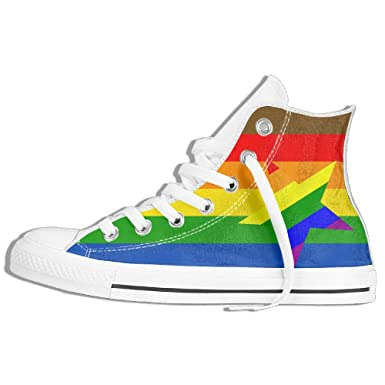 046179cd Amazon.com: Rainbow Star High Top Classic Casual Canvas Fashion Shoes  Sneakers For Women & Men: Clothing