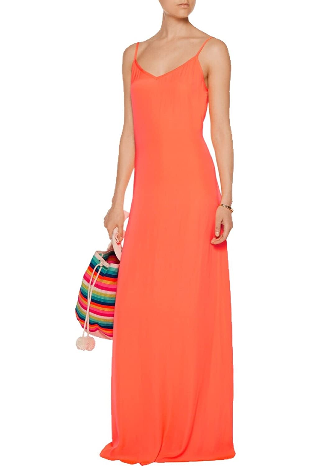 9f00738b4fa1b Tart Collections Women's Florence Maxi Dress, Hot Coral, Medium: Amazon.in:  Clothing & Accessories