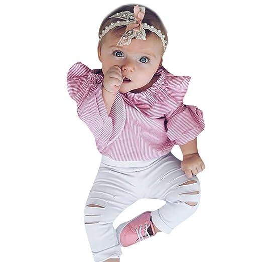 Amazon.com: Kimloog Toddler Baby Girl Layered Bell Sleeve Ruffle ...