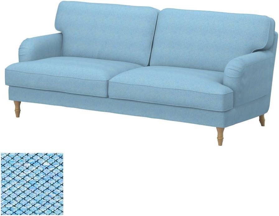 Amazon.com: Soferia Replacement Cover For IKEA STOCKSUND 3-seat Sofa, Fabric Nordic Blue: Home & Kitchen