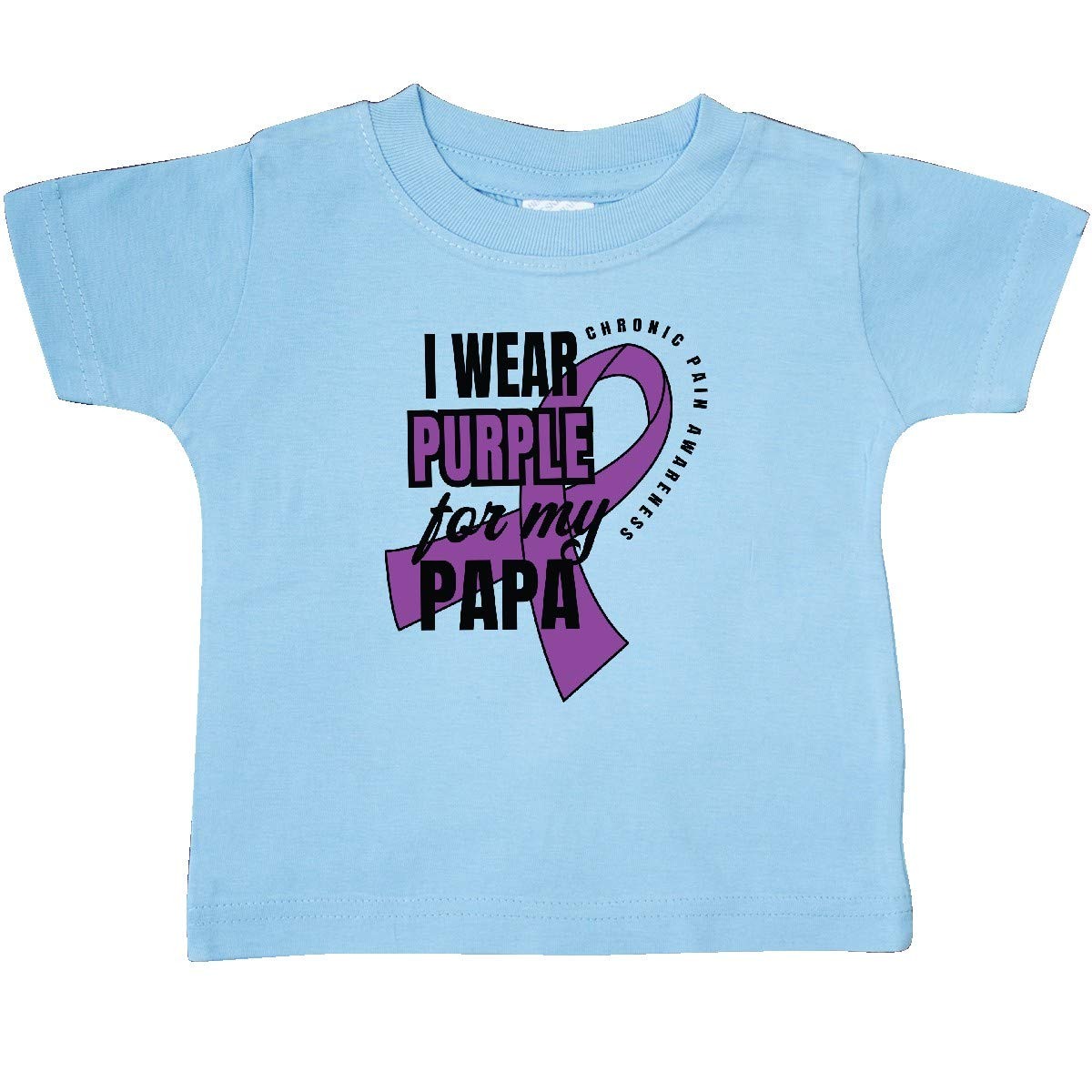 inktastic Chronic Pain I Wear Purple for My Papa Baby T-Shirt