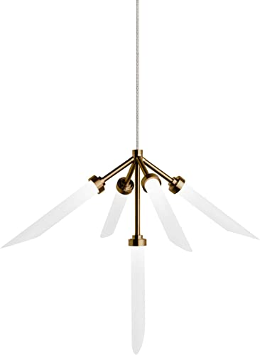 Spur 20 W Aged Brass and Nickel LED Monorail Pendant Light