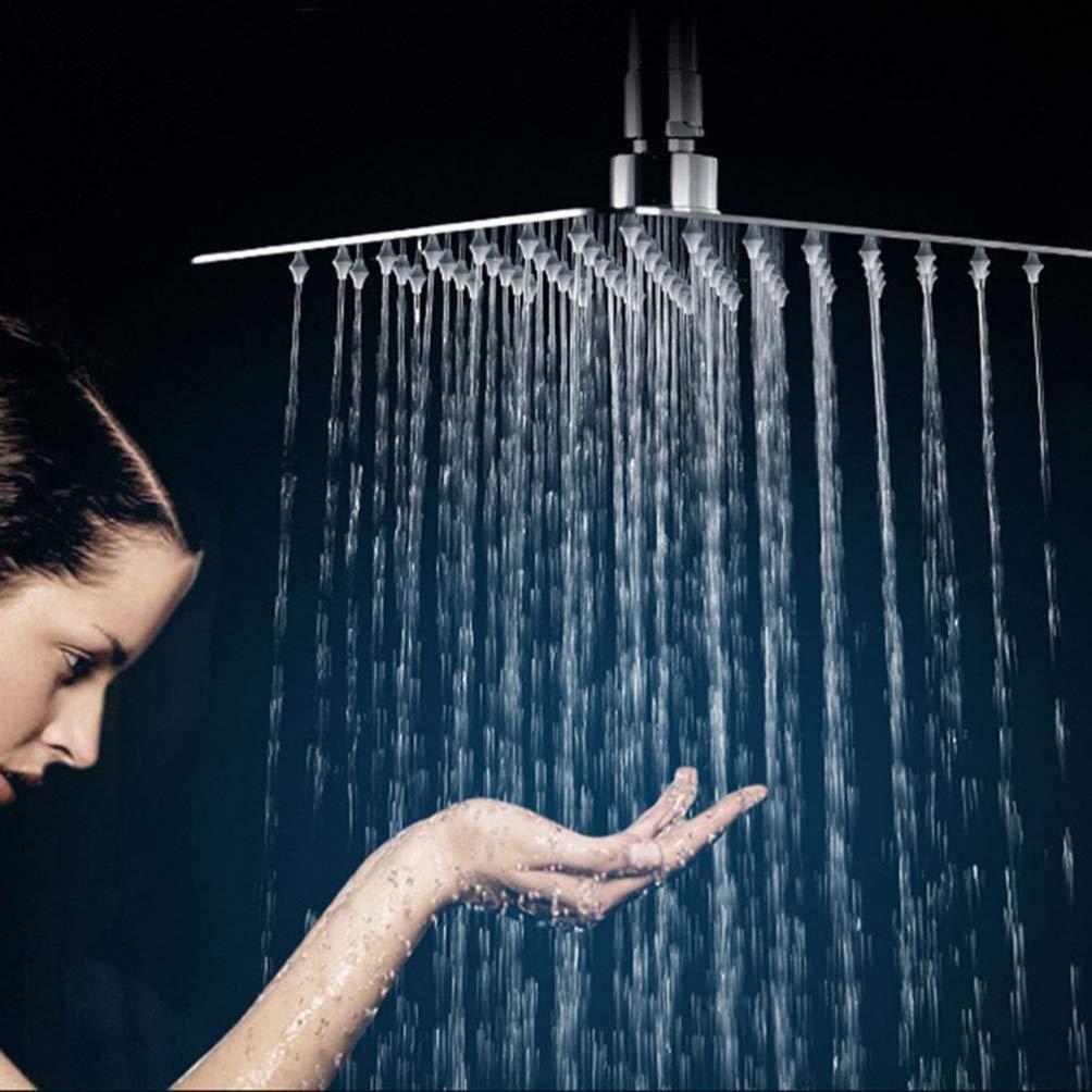 ultrasottile quadrato 15 cm Soffione doccia a cascata Acciaio inossidabile 4inch per doccia TOPBATHY ad alta pressione in acciaio INOX Silver colore: Argento
