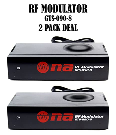 Amazon 2 Pack Universal RF Modulator RCA Audio Video To Coaxial
