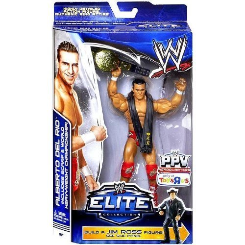 WWE Elite Collection Exclusive Best of Pay-Per-View 2014 Alberto Del Rio Action Figure (Build Jim Ross) toy [parallel import goods]