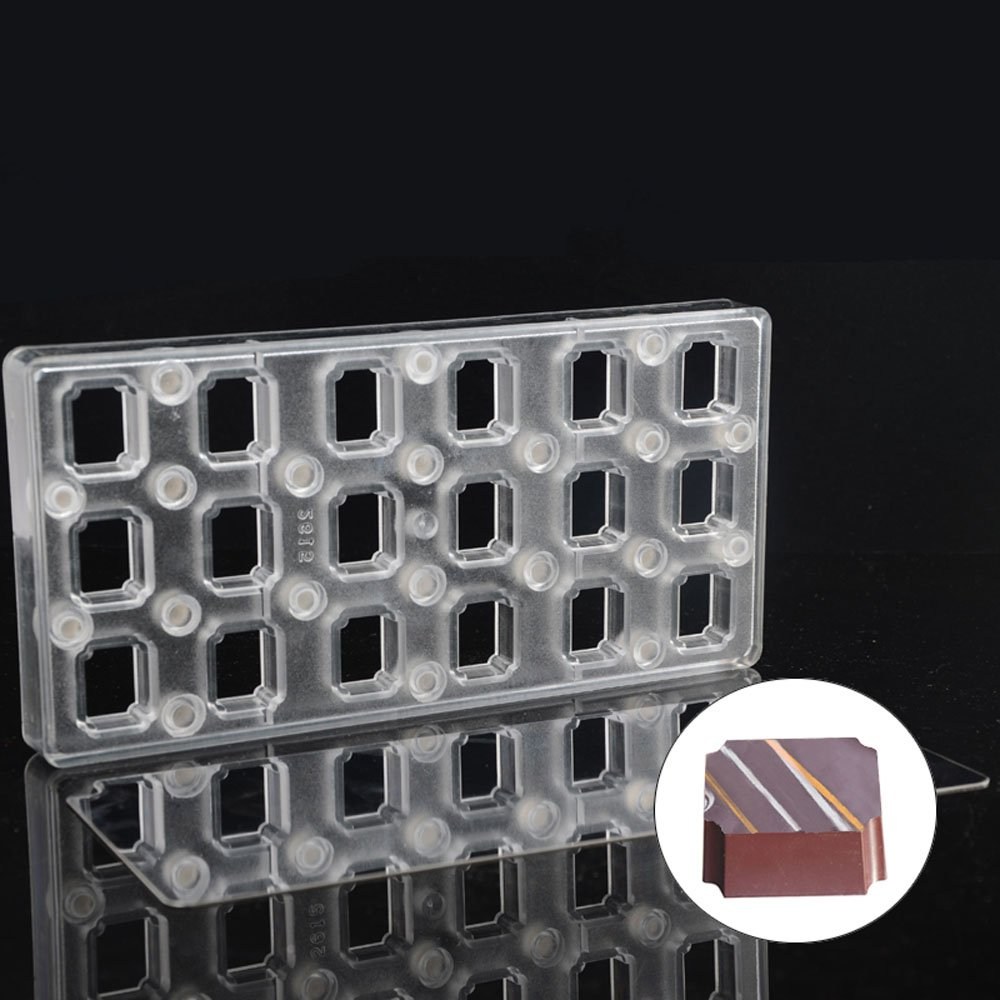 Grainrain Rectangle DIY Chocolate Transfer Sheet Custom Molds Magnetic Polycarbonate Mould