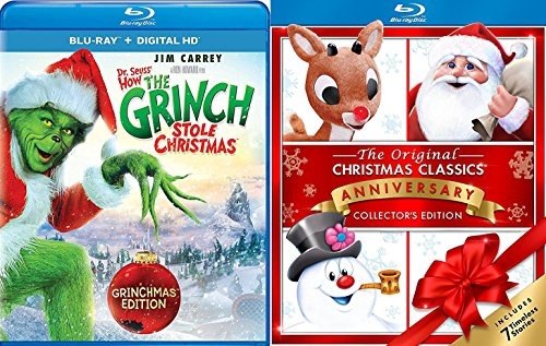 Rudolph Magoo Santa Claus & Frosty Collectors Edition 7 Timeless Holiday Classics & The Grinch Who Stole Christmas Story - Santa High Mall Street