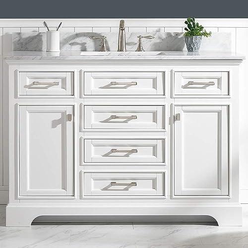 LUCA Kitchen Bath LC48OWW Savanna 48″ Single Bathroom Vanity Set