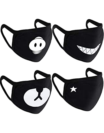 5d873367ad Teenitor 4 Pcs Cotton Face Mouth Mask Anti Dust Wind
