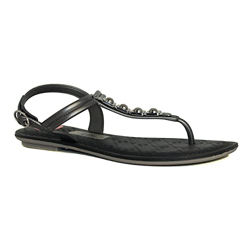 7d5aa397049 Amazon.com  Grendha Black and Silver Sandals Sense Jewel  Shoes