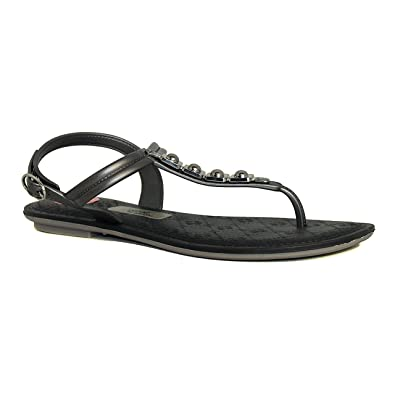 2e1991a6e41dba Grendha Black and Silver Sandals Sense Jewel  Amazon.co.uk  Shoes   Bags