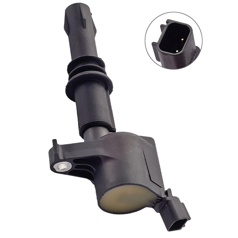Carrep Ignition Coil for Ford Lincoln 4.6L 5.4L 6.8L V8 V10 Engine Coil Pack (dg508, Black) F523 5C1412 E213 E262 E409 52-1761
