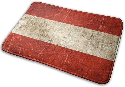 Garlincao - Felpudo con diseño de bandera austríaca envejecida y rayada: Amazon.es: Hogar