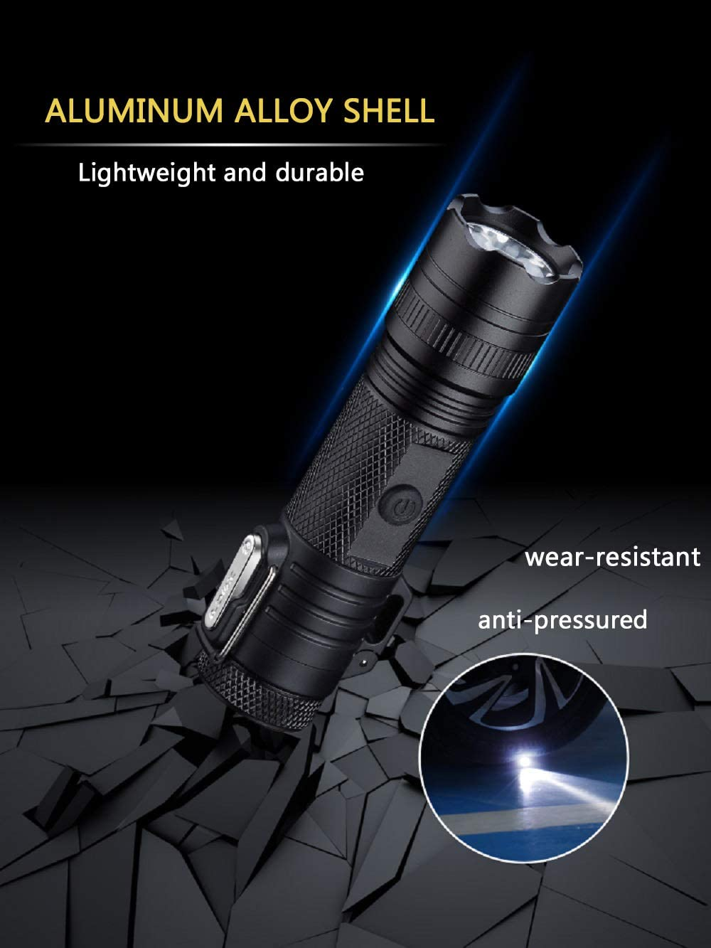 Windproof Electric Lighter for Outdoor Survival Hiking MORISK Waterproof Plasma Lighter USB Rechargeable Arc Lighters with tactical Flashlight EDC Camping Gadgets Cool Gifts for Men Dad Husband
