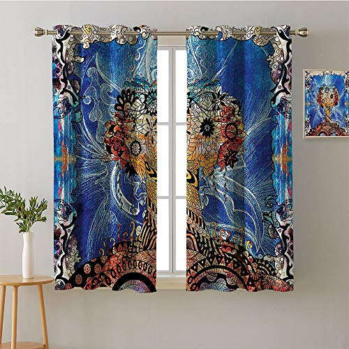 Jinguizi Curtain Kitchen Grommets Light Darkening Curtains Printed Darkening Curtains Sunbeams Isolated Darkening Curtains Curtains/Panels/Drapes(2 Pieces, 27.5