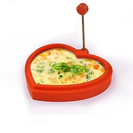 shufang-kitchen,Molde de silicona torta corazón de huevo tortilla dispositivo herramienta de cocina