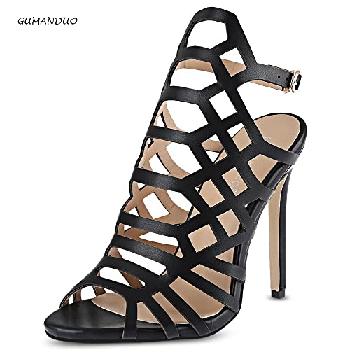 35db214f11 Hannea GUMANDUO Sexy Hollow Out Open Toe Ladies Ultra-high Heel Sandals: Buy  Online at Low Prices in India - Amazon.in