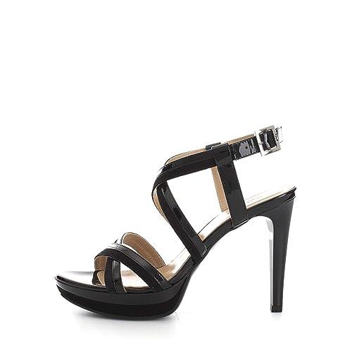 NERO GIARDINI Sandali scarpe donna nero 7871 elegante mod. P717871DE