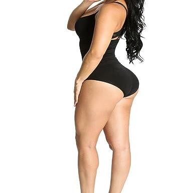 8cd840c3f High Waisted Bodyshaper Panty Tummy Control Hip shapeBooty Cover Bodysuit  Black 15 (S M