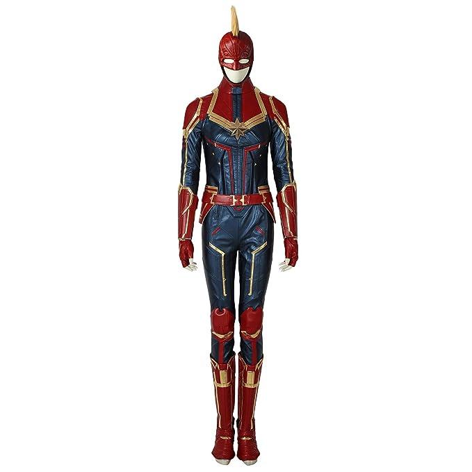 Marvel Cosplay Costume Carol Danvers Leather Suit Custom M.99 Captain Marvel Ms