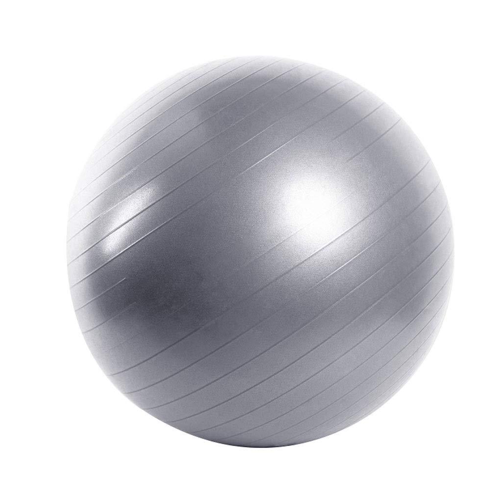 Exercise Ball, with Pump Anti-Burst & Anti-Slip Gym Ball,Yoga Ball Balance Ball for Fitness Pilates Yoga Gym Training Core Strength (Color : Gray, Size : 65cm)