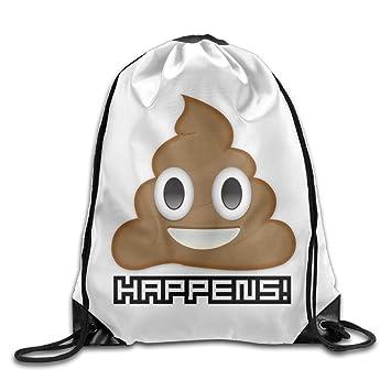 Amazon.com: Mierda happens Emoji Humor caca Cool Drawstring ...