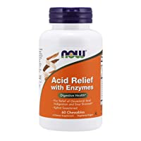 NOW Supplements, Acid Relief with Enzymes, Xylitol Sweetened, Digestive Health*,...