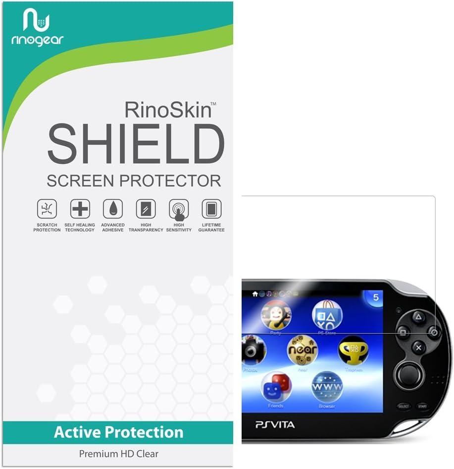 RinoGear Sony Playstation (PS) Vita Screen Protector Case Friendly Screen Protector for Sony Playstation Accessory Full Coverage Clear Film