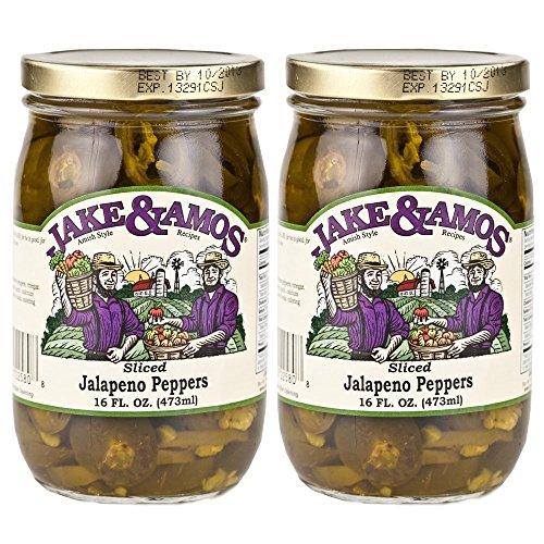 (Jake & Amos, Amish Style, Jalapeno Peppers (Sliced), 2 - 16 Oz. Jars)