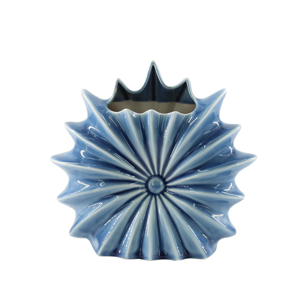 JYSPT vaso in ceramica, blu mare Anemone a forma di vaso di fiori decorativi a mano artigianato vaso da tavolo decorare ornamenti in grado di vaso centrotavola decorazione per casa ufficio