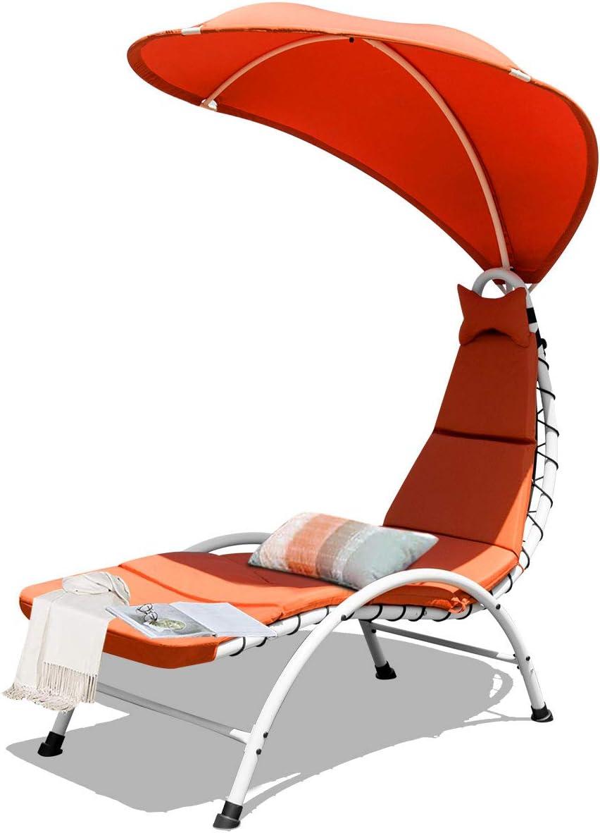 Sun Lounger Cream Cushion Recliner Cover Swing Deckchair Quality 7cm Thick Pad