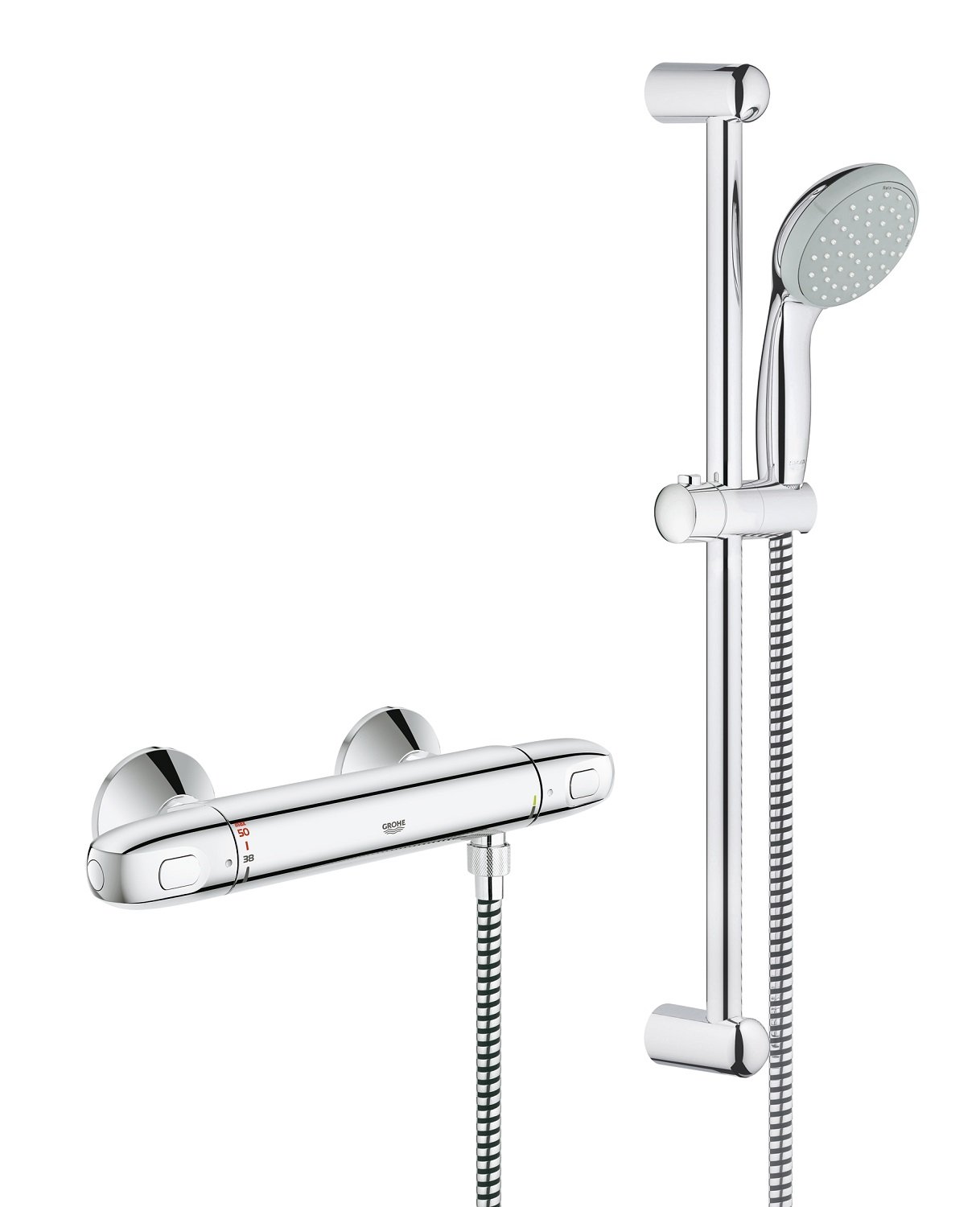 GROHE 34557000 | Grohtherm 1000 Thermostat Shower Set: Amazon.co.uk ...