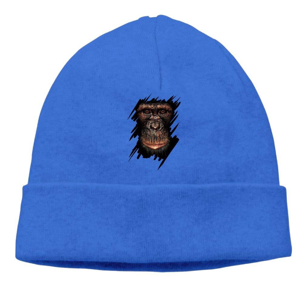 Oopp Jfhg Grimace Monkey Beanies Knit Hat Skull Cap Men RoyalBlue