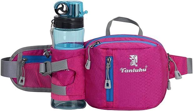 Huafi Riñonera para senderismo, riñonera con soporte para botella, bolsa para correr, camping, escalada, viajes, ciclismo y pasear al perro