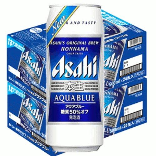 アサヒ本生アクアブルー500ml缶2ケース(48本入)  B00H29E7QK