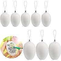 Naler 50 Huevos de Pascua Huevos Blancos Plásticos