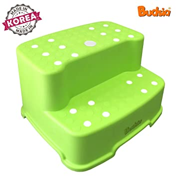 [Budsia] Baby Kids Extra-Wide u0026 Tall Jumbo Step Stool with Removable Non  sc 1 st  Amazon.com & Amazon.com : [Budsia] Baby Kids Extra-Wide u0026 Tall Jumbo Step Stool ... islam-shia.org