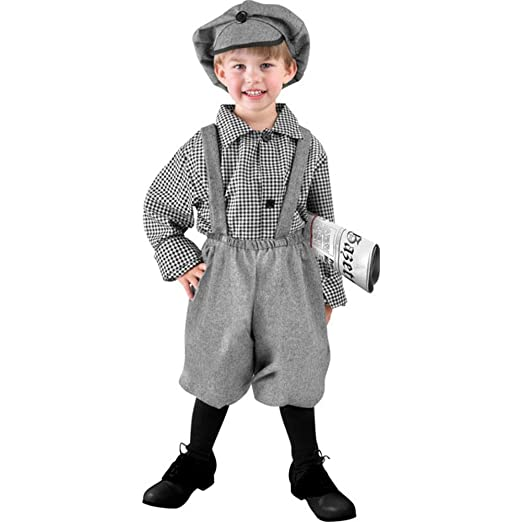 1920s Children Fashions: Girls, Boys, Baby Costumes Toddler Old Fashioned Newsboy Halloween Costume (Size: 2T-4T) $39.99 AT vintagedancer.com