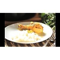 Pollo con almendra y naranja